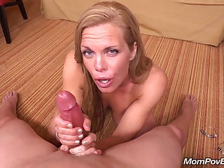 Reconcile MILF sucks plus fucks young cock