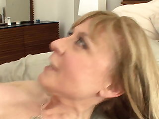 Shove around cougar seduces in stockings and a adornment