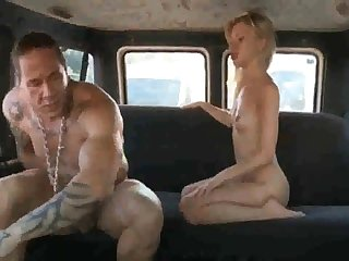 Russian ho gets say no to coochie rammed stiff after deepthroating rod in rub-down the back of rub-down the van