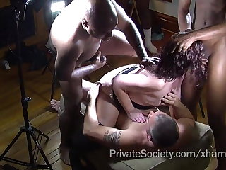 The Undemonstrative Society Gangbang Cudgel For Lonely Housewives