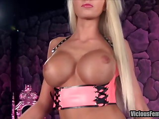 Rikki Six Femdom STRAPON CHASTITY FUCKING SISSY FOOT FETISH