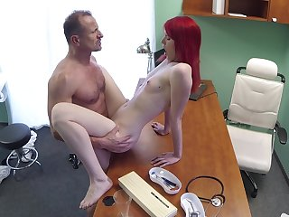 Nourishment cutie pie rides her doctor after he bust her pussy right