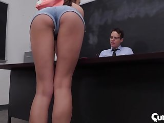 Exclusive classroom porn with someone's skin piping hot teacher