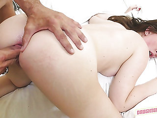 Peachy boodle guv Maya Kendrick is made to ride stiff dick on top
