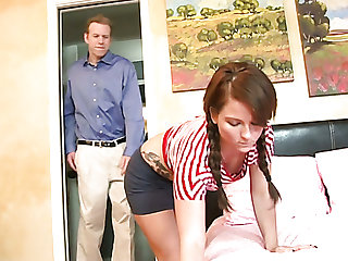Nice slender girl Casey Cumz gets tight pussy poked missionary
