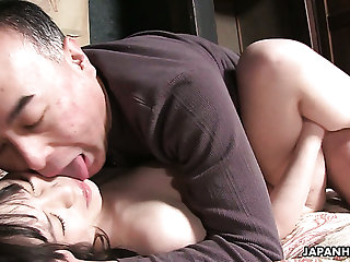Mai Shimizu is a hot Asian nympho and she has an bent for older men