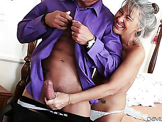 Lusty aged haired cougar Leilani Lei loves when her stud bangs her doggy