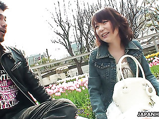 Sweet redhead Japanese unreserved seduced coupled with fed with a hairy cock