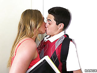 Amazing Daisy Stone lures her coed friend to abhor fucked doggy by him